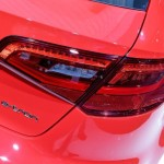 2014 Audi A3 E-tron closeup of vehicle badge and tail light